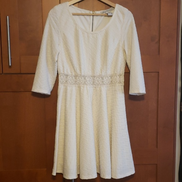American Rag Dresses & Skirts - White textured skater dress boho stretchy XL